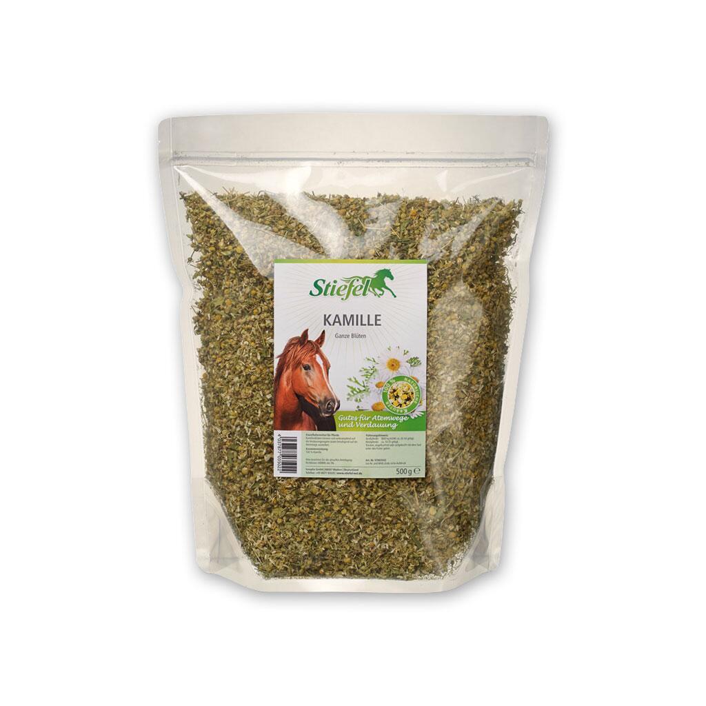 Lieblings STIEFEL Ergänzungsfutter KAMILLE GANZE BLÜTEN für Pferde 500g, 10,90 € @DJ_54