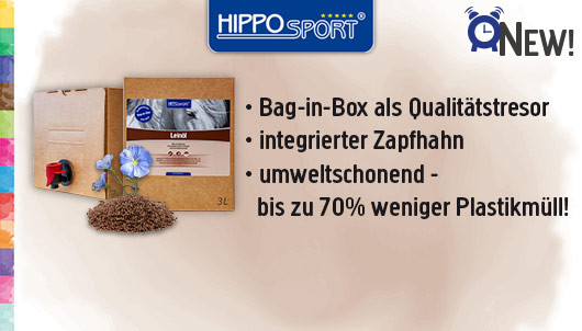 HippoSport Leinöl Bag-in-Box